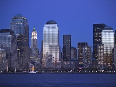 Skyline of Manhattan at Twilight