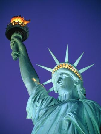 Statue of Liberty in New York City at dusk