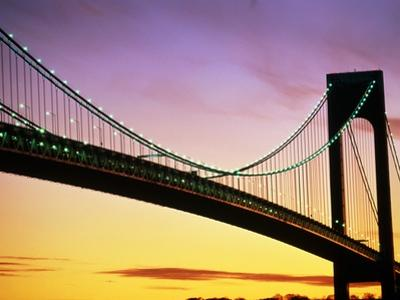 Verrazano Narrows Bridge at Dusk