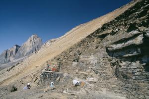 Burgess Shale Fossil Quarry by Alan Sirulnikoff