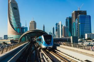 Dubai Metro. A View of the City from the Subway Car by Alan64