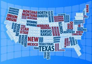 Text USA Map by alanuster