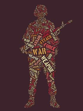 Wordcloud: Soldier with Rifle of War Words by alanuster