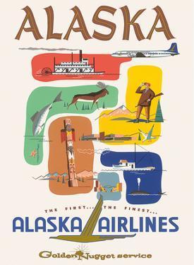 Alaska Airlines: Alaska - Golden Nugget Service, c.1950s