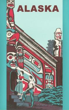 Alaska Building with Tlingit Motifs