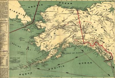 Alaska - Panoramic State Map