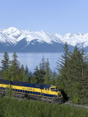 Alaska Railroad Near Girdwood, Alaska, United States of America, North America