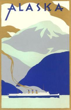 Alaskan Scene, Poster Style