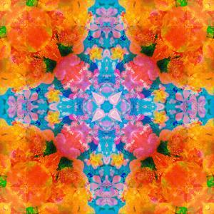 A Floral Montage, Mandala Symmetric Layer Work from Blooming Flowers by Alaya Gadeh
