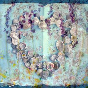 A Floral Montage with Seashells by Alaya Gadeh