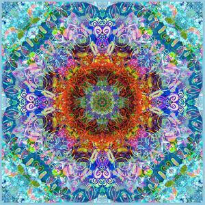 A Flower Mandala, Photographic Layer Work from a Painting by Alaya Gadeh