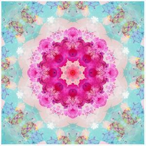 A Mandala from Flowers in Vintage Pastel Tones by Alaya Gadeh
