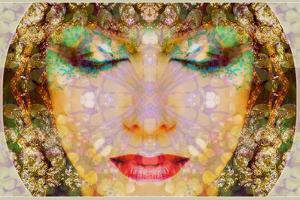 A Montage of a Portrait with Ornaments in Egyptian Style by Alaya Gadeh