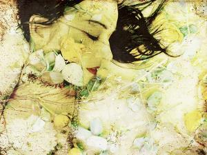 A Poetic Montage of a Womans Portrait and Roses by Alaya Gadeh