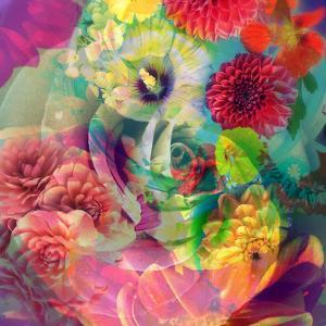 Abstract Blossoms Layered Photographs by Alaya Gadeh
