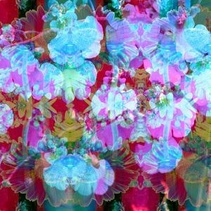 Colorful Photographic Layer Work from Orchids and Floral Ornaments by Alaya Gadeh