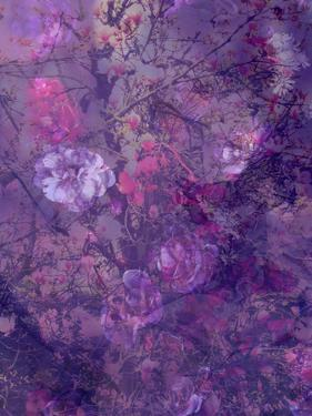 Composing of Flowers and Branches, Abstract, Mauve by Alaya Gadeh