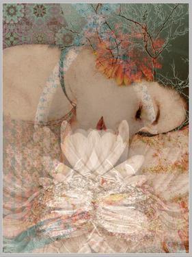 Composing, Woman, Flowers, Asleep by Alaya Gadeh