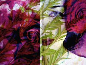 Creative Dyptich of a Portrait and a Rose by Alaya Gadeh