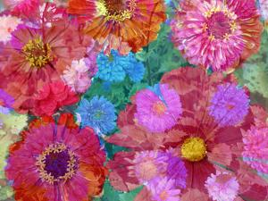 Different Summer Blossoms in Red and Pink Tones by Alaya Gadeh