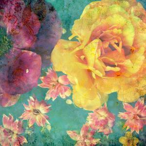 Floral Montage, Photographic Layer Work from Flowers and Texture by Alaya Gadeh