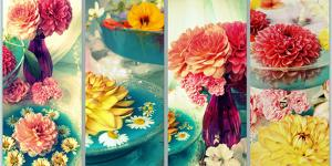 Four Pictures of Flowers with Dish by Alaya Gadeh
