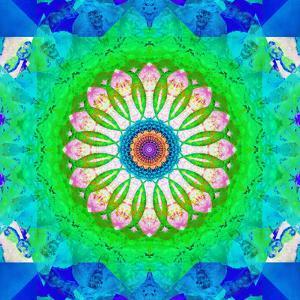 Mandala, Colourful, 'Green Me Up' by Alaya Gadeh