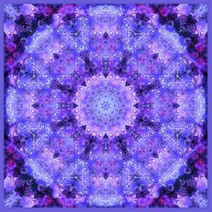 Mandala, Filigree Symmetrical Arrangement in Lilac by Alaya Gadeh