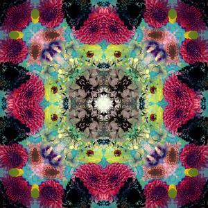 Symmetric Ornament from Flowers, Conceptual Photographic Layer Work by Alaya Gadeh