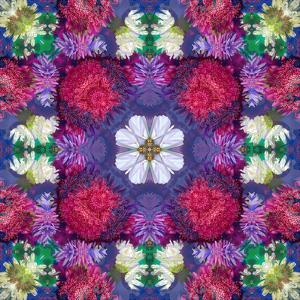 Symmetric Ornament from Multicolor Blossoms by Alaya Gadeh