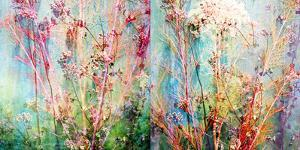 Wild Grasses Layered with Flower Colors by Alaya Gadeh