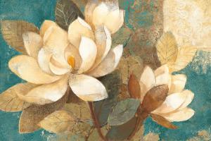 Turquoise Magnolias by Albena Hristova