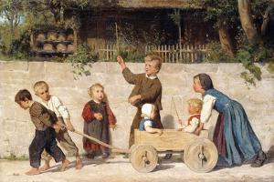Kindergespann, 1868 by Albert Anker