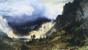 A Storm in the Rocky Mountains - Mt. Rosalie by Albert Bierstadt