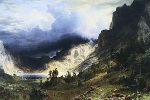 A Storm in the Rocky Mountains - Mt. Rosalie by Albert Bierstadt
