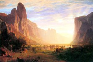 Albert Bierstadt Yosemite Valley Landscape by Albert Bierstadt