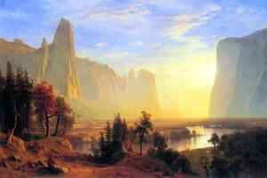 Albert Bierstadt Yosemite Valley Sun Rise by Albert Bierstadt