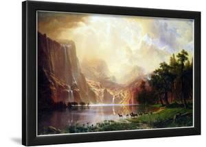 Albert Bierstadt Between the Sierra Nevada Mountains Art Print Poster