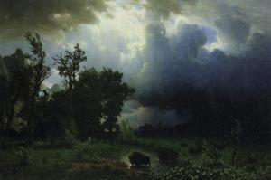 Bison Trail: Approaching Storm by Albert Bierstadt