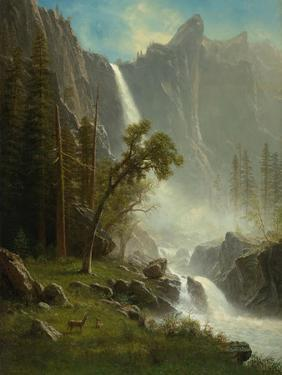 Bridal Veil Falls, Yosemite, c.1871-1873 by Albert Bierstadt
