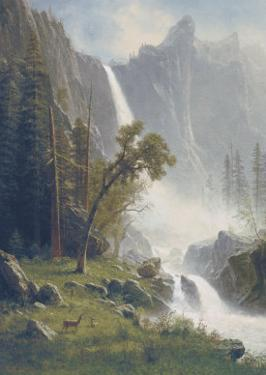 Bridal Veil Falls, Yosemite, c.1871-73 by Albert Bierstadt