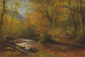 Brook in Woods by Albert Bierstadt