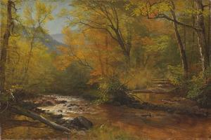 Brook in Woods by Albert Bierstadt