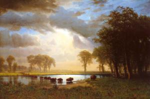Buffalo Trail by Albert Bierstadt