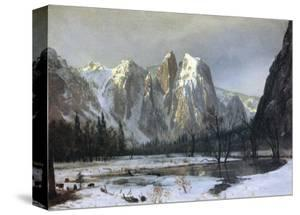Cathedral Rock Yosemite by Albert Bierstadt