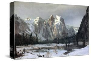 Cathedral Rocks, Yosemite Valley, California by Albert Bierstadt