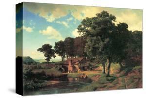 Country Mill by Albert Bierstadt