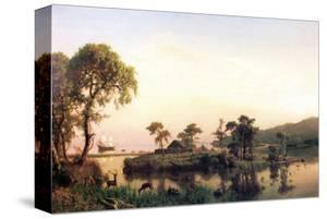 Gosnold on the Island of Cuttyhunk by Albert Bierstadt