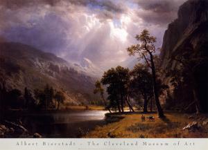 Half Dome, Yosemite Valley by Albert Bierstadt