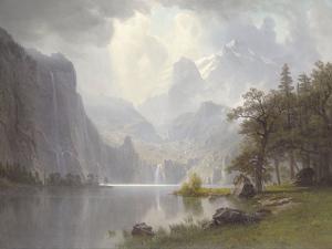 In the Mountains, c.1867 by Albert Bierstadt